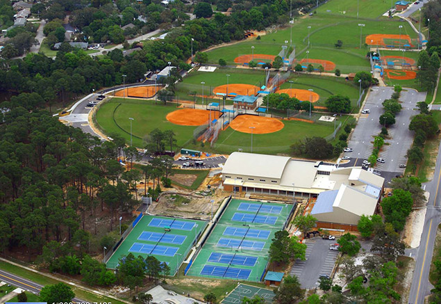 Gulf Breeze Rec Center - Aerial View